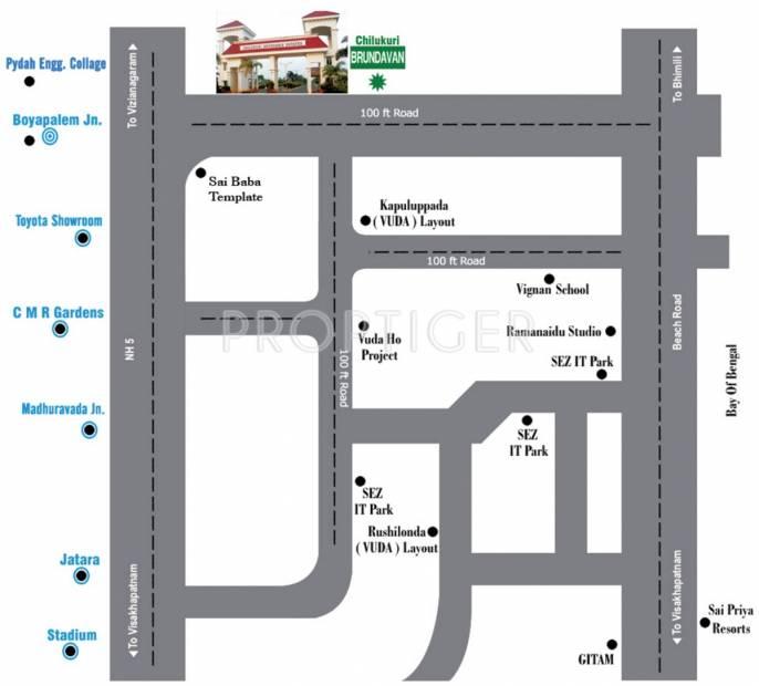 Images for Location Plan of Chilukuri Brundavan Estates