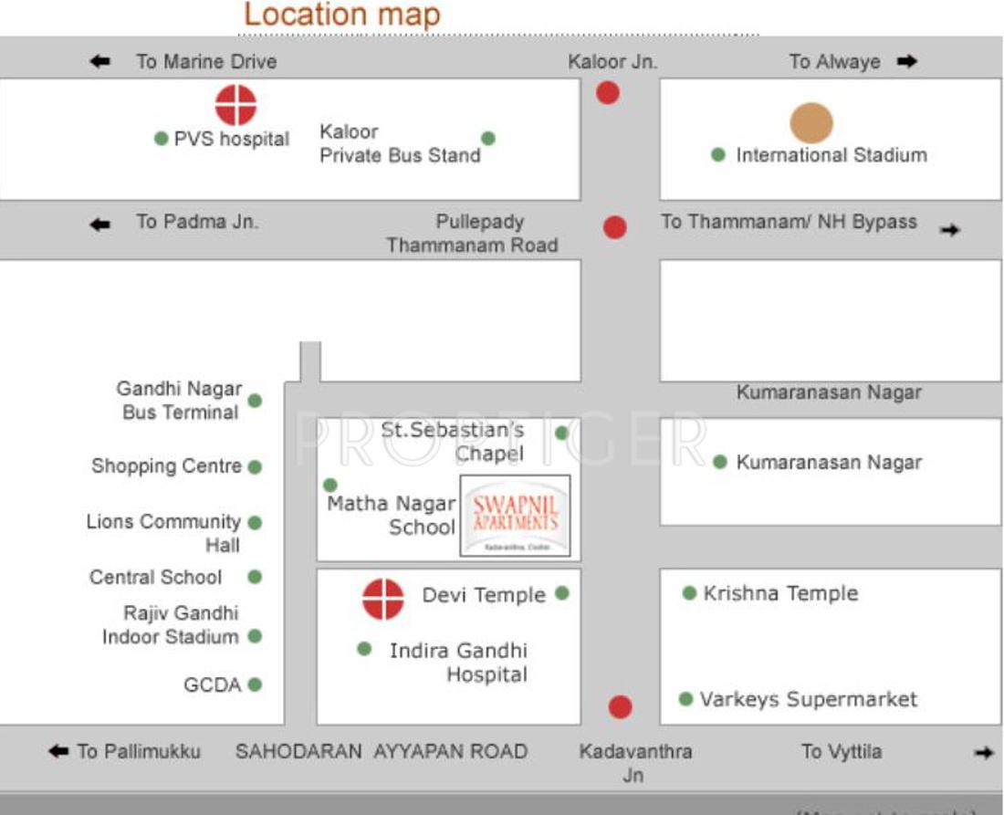 Pioneer Swapnil Apartments in Kadavanthra, Kochi - Price, Location