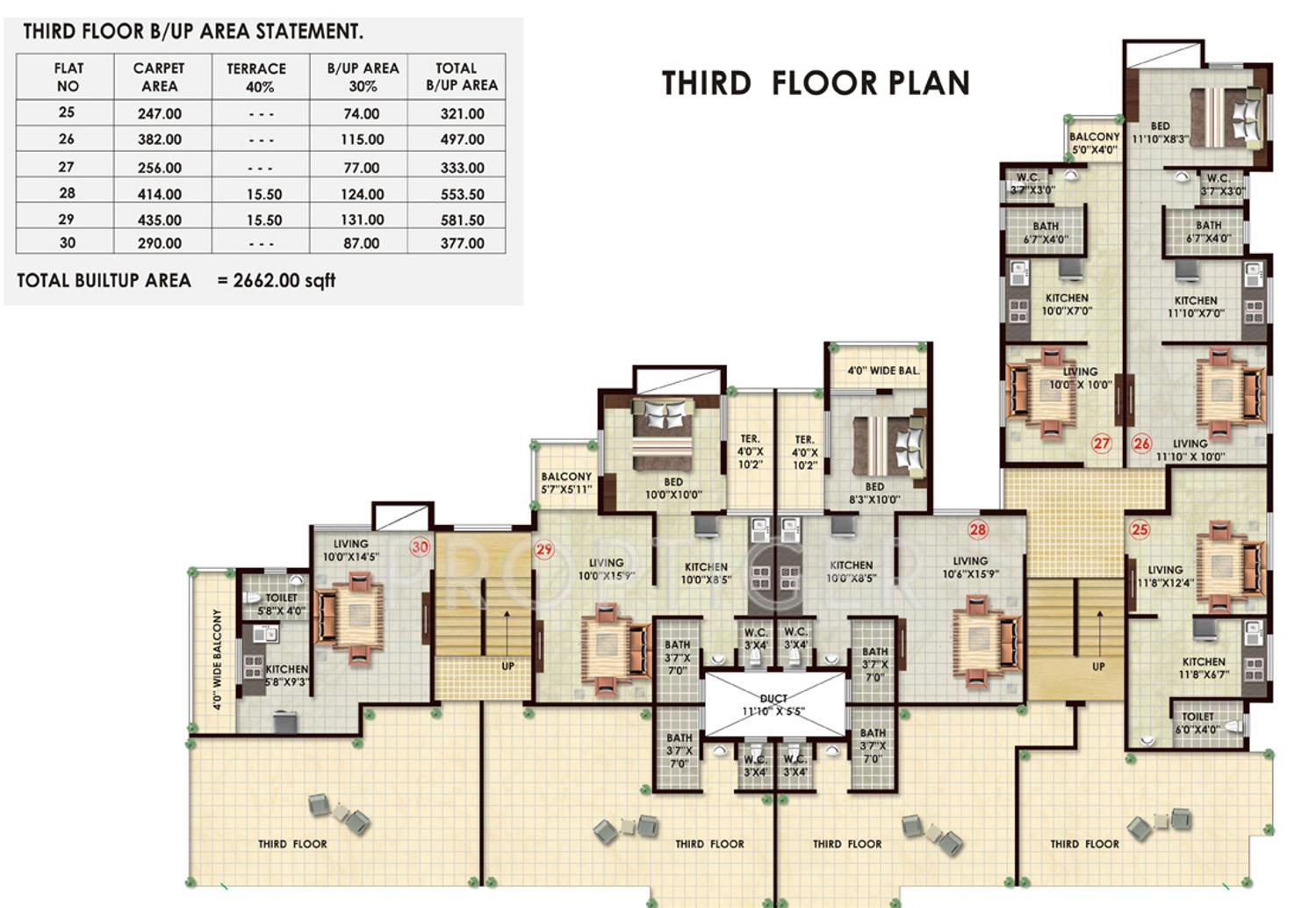 386 sq ft 1 bhk 1t apartment for sale in subhadra estates for Apartment cluster plans