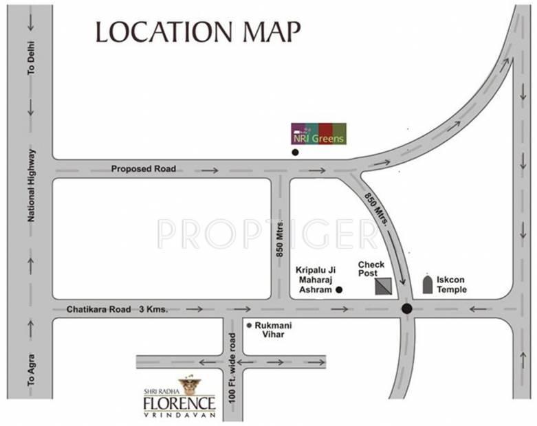 shri-group radha-florence Location Plan