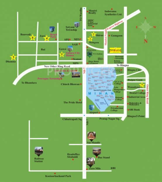 bhavya-estates pinnacle Location Plan