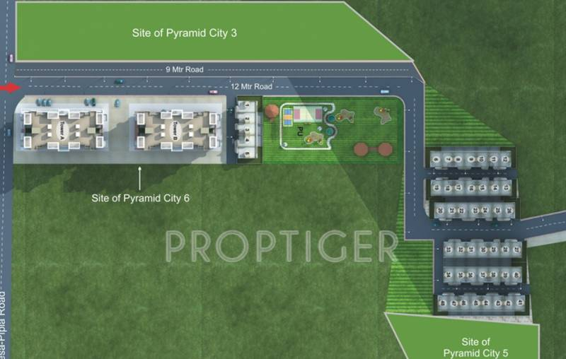Images for Site Plan of Pyramid Pyramid City 6 Row Houses