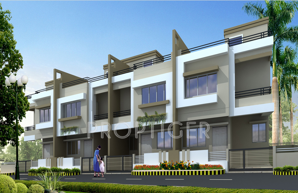 Front Elevation Row Houses : Pyramid city row houses in besa nagpur price