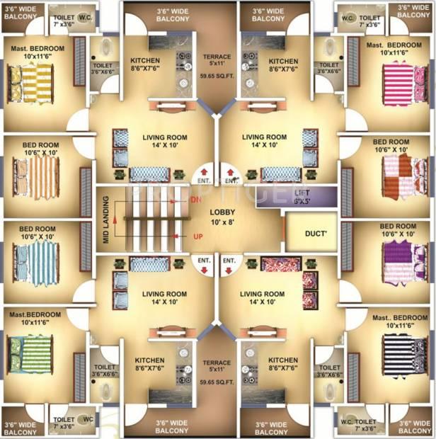 Images for Cluster Plan of Shree Siddheshwar Regency