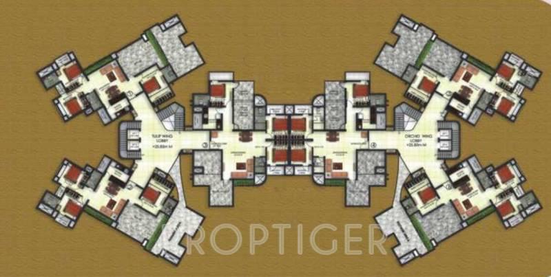 radiance-erectors-pvt.-ltd fortune-empire Cluster Plan for 8th Floor