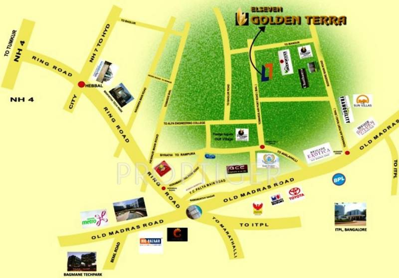 l7-developers golden-terra-phase-1 Location Plan