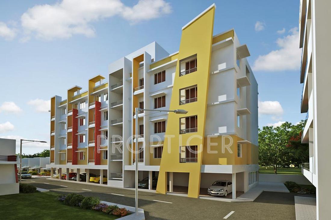 Kubhera vistas apartments in saravanampatti coimbatore for Apartment design elevation