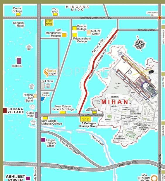 Images for Location Plan of Om Sai Buildcon Surya Nagari Villas