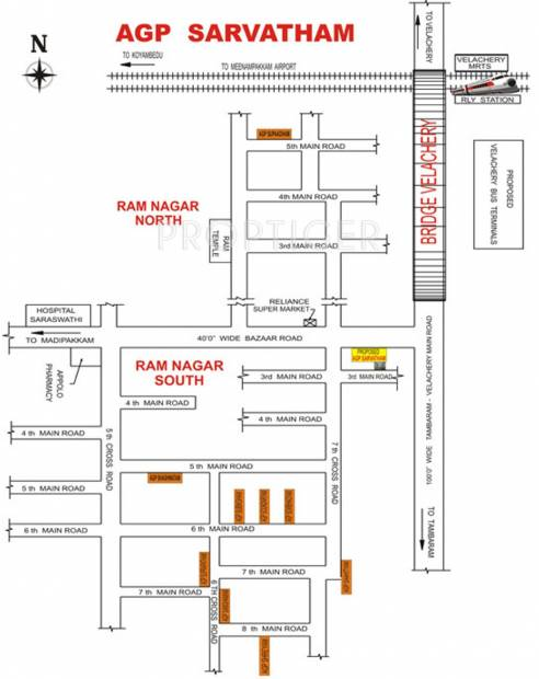Images for Location Plan of AGP Homes Sarvatham