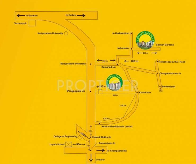 heritage-builders north-avenu-apartment Location Plan