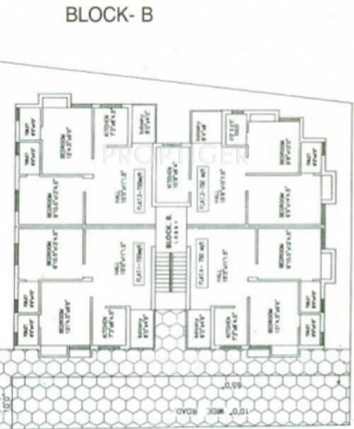 agni-estates lakshmi-griha Block B Cluster Plan