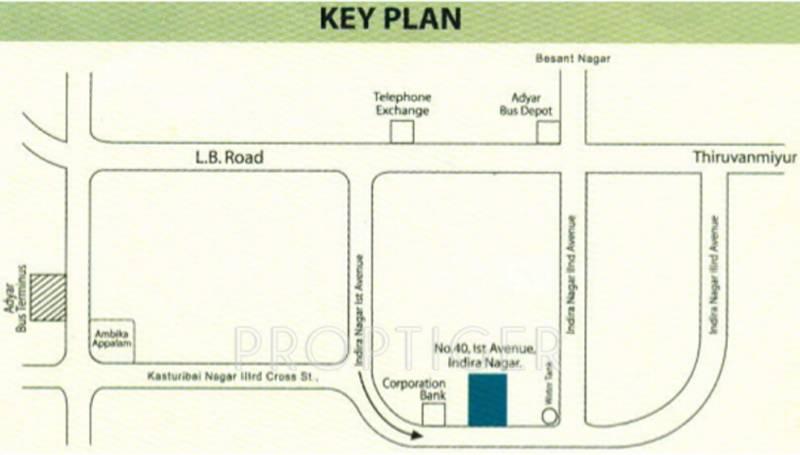agni-estates gajalakshmi Location Plan