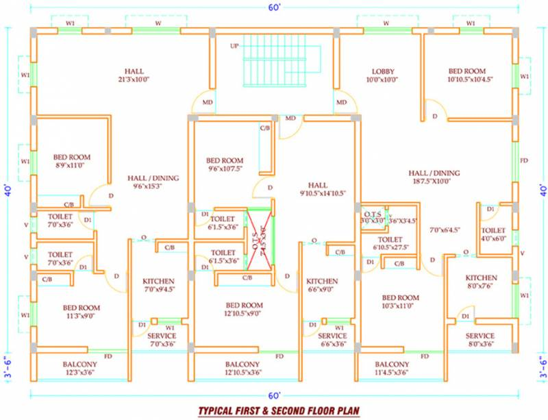 sarathi-engineers aditya Aditya Cluster Plan for 1st & 2nd Floor