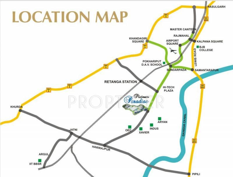 Images for Location Plan of Om Swastik Estcon Pvt Ltd Platinum Paradise