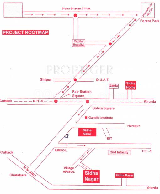 Images for Location Plan of Sidheswar Sidha Nagar