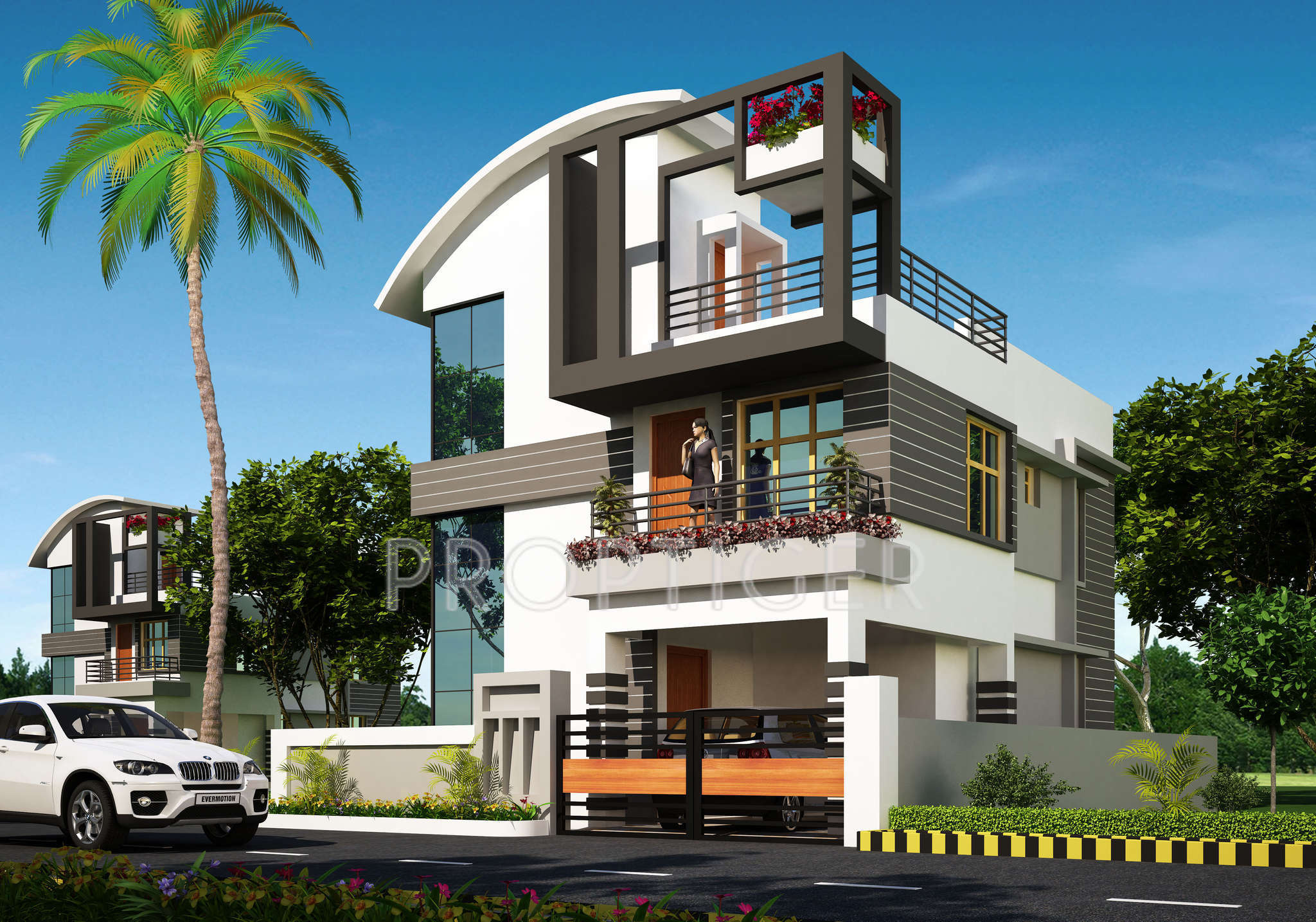 Building Elevation Designs In Pune | Joy Studio Design