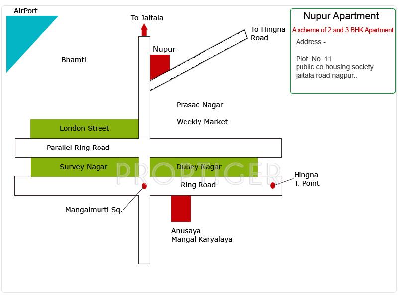 samruddhi-habitats nupur Location Plan