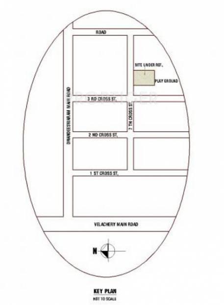 Images for Location Plan of Ramaniyam Real Estates Meenakshi