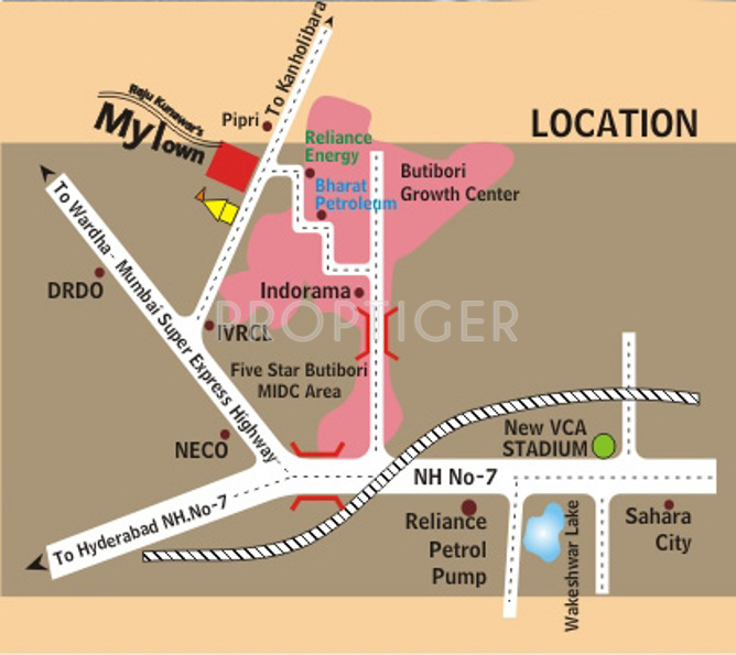 Axon My Town In Gangapur Nagpur Price Location Map Floor Plan - Star map from my location