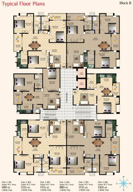 Images for Cluster Plan of Sunrise Moti Apartment