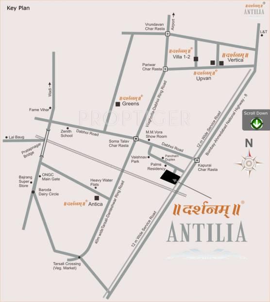 antilia Images for Location Plan of Darshanam Antilia