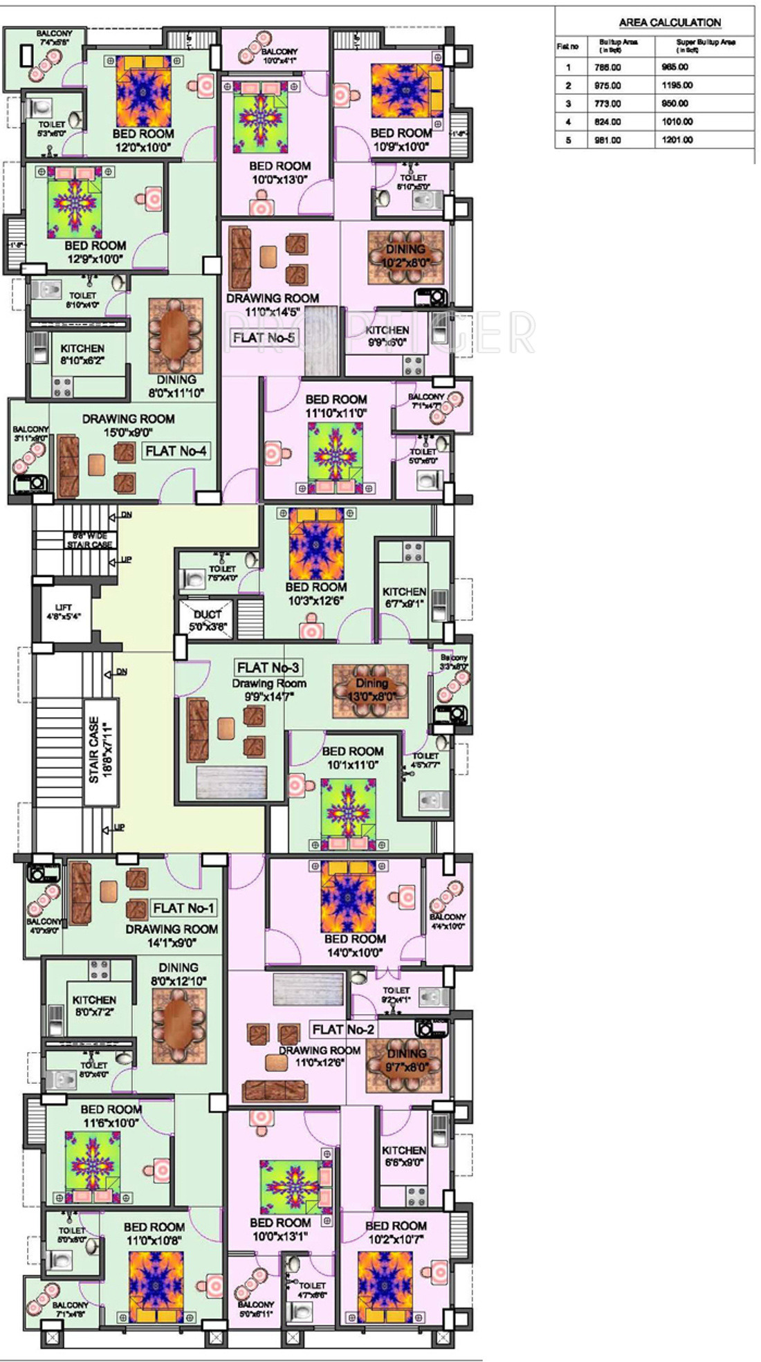 1010 Sq Ft 2 Bhk 2t Apartment For Sale In Niagaree