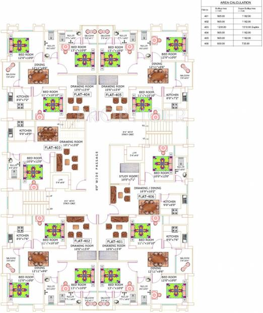 Images for Cluster Plan of Niagaree Hurmat Complex