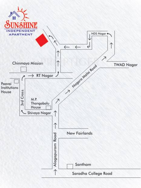 sri-kirhika-builders sunshine-apartment Location Plan