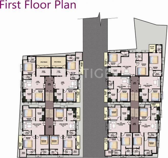 Images for Cluster Plan of KJ Castle Homes