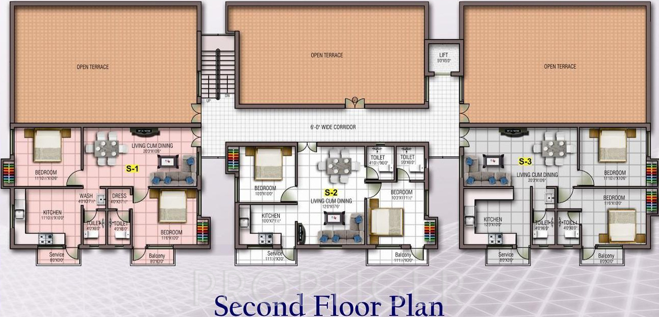 1002 sq ft 2 bhk 2t apartment for sale in kj homes angel for Apartment cluster plans