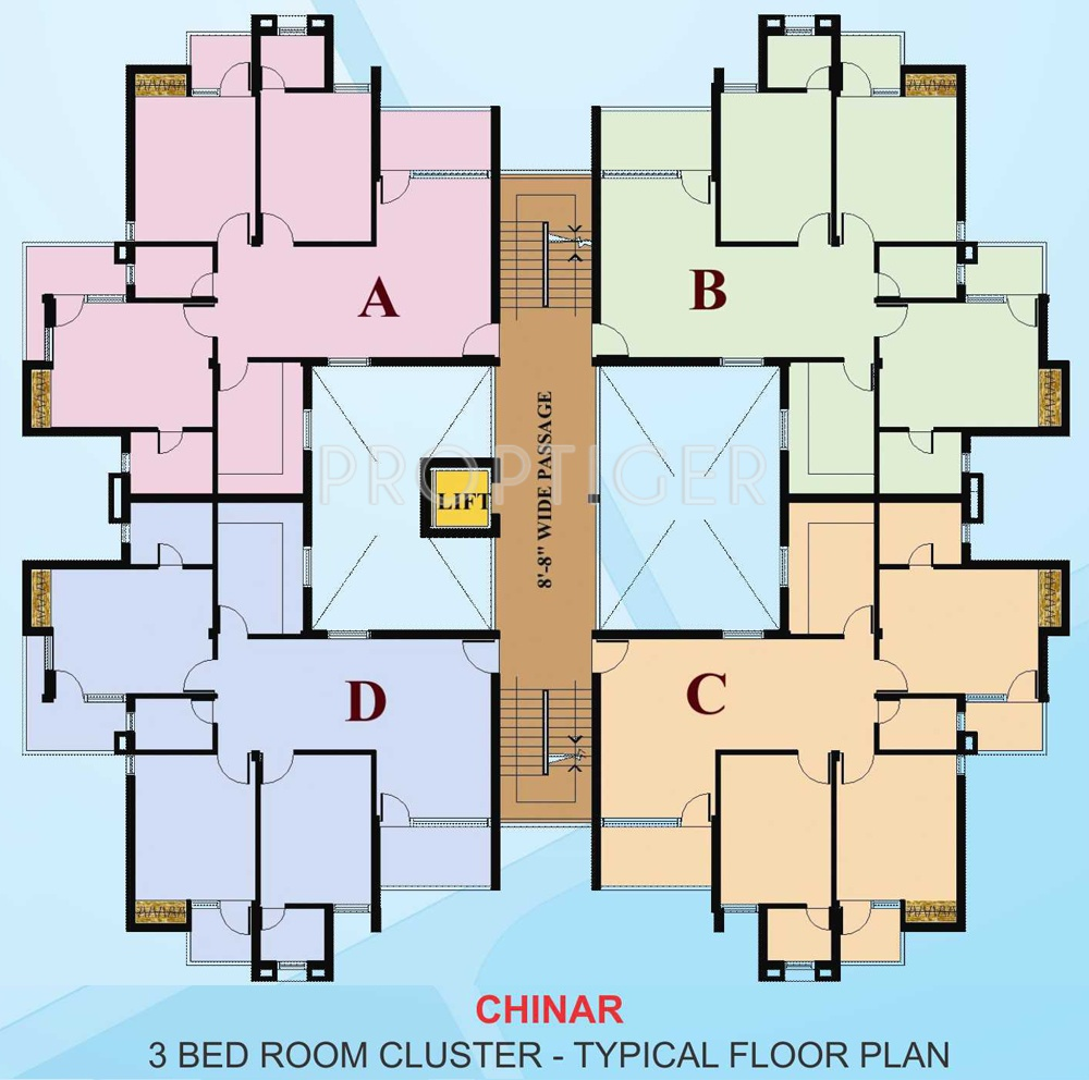 779 sq ft 1 bhk 1t apartment for sale in omaxe parkwoods for 1 bhk floor plan