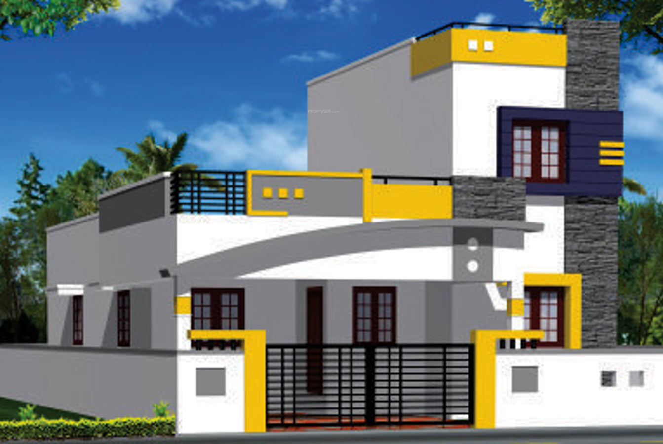 Front Elevation Designs Independent Houses : The gallery for gt front elevations of independent houses