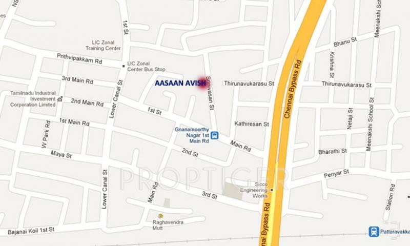 aasaan-builder avish Location Plan