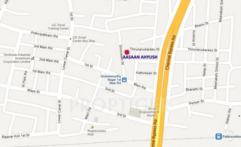 aasaan-builder ahyush Location Plan