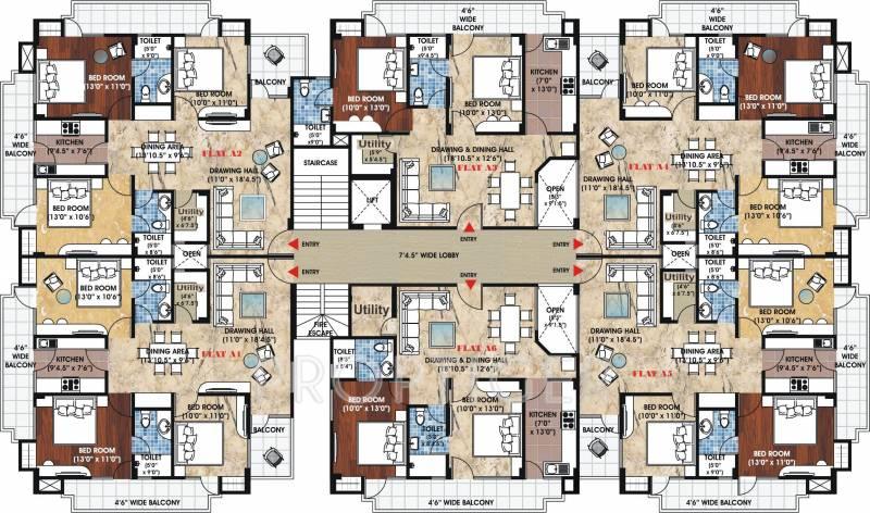 sangam-link-apartments Block A Cluster Plan