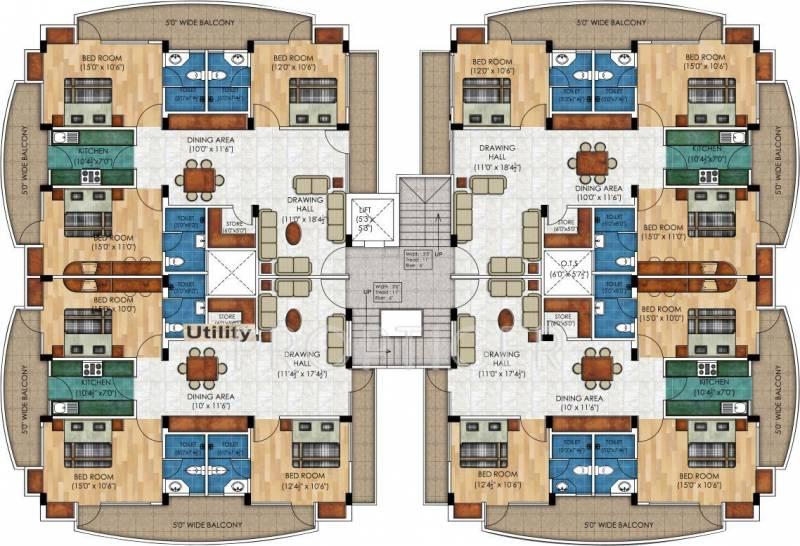 sangam-link-apartments Block B Cluster Plan