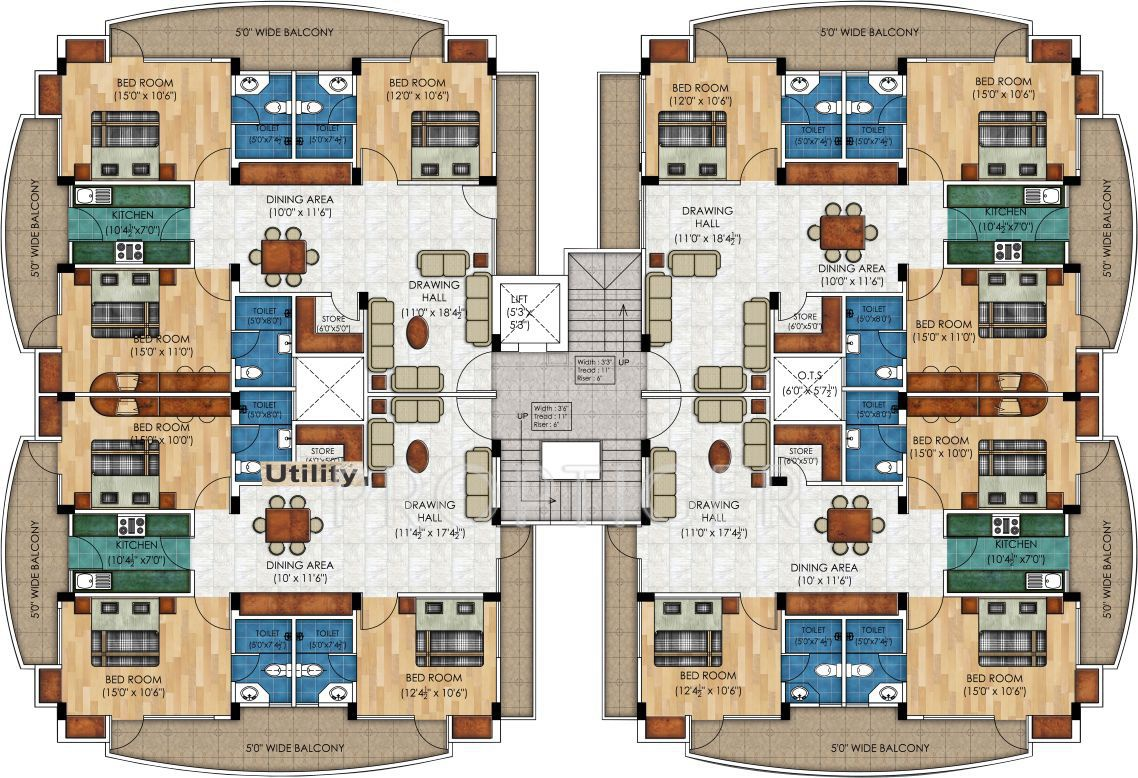 1500 sq ft 3 bhk 2t apartment for sale in sangam real for Apartment plans for sale