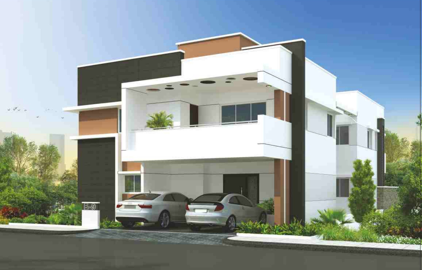 N Home Elevation Duplex : Gowra palm breeze in manikonda hyderabad price