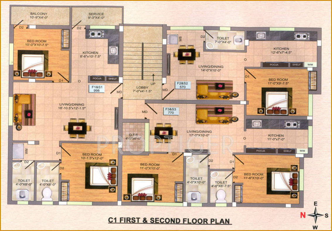 540 Sq Ft 1 Bhk 1t Apartment For Sale In Infraz Heavenz