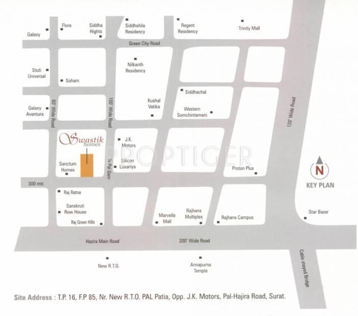 swastik-homes Images for Location Plan of Krishna Swastik Homes