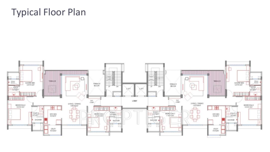 1905 sq ft 3 bhk 3t apartment for sale in marvel realtors for Floor plans for realtors