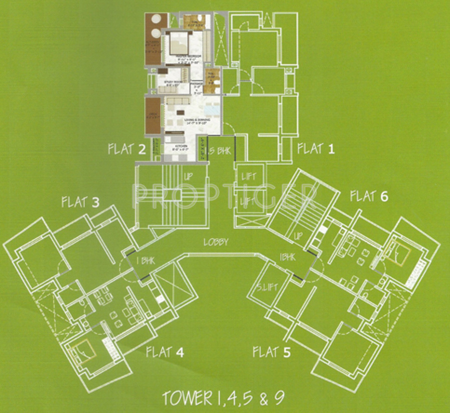 Abode in dombivali mumbai price location map floor for Floor 5 map swordburst 2