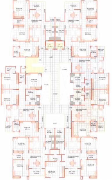 Images for Cluster Plan of Sunil Nilgiri Apartment