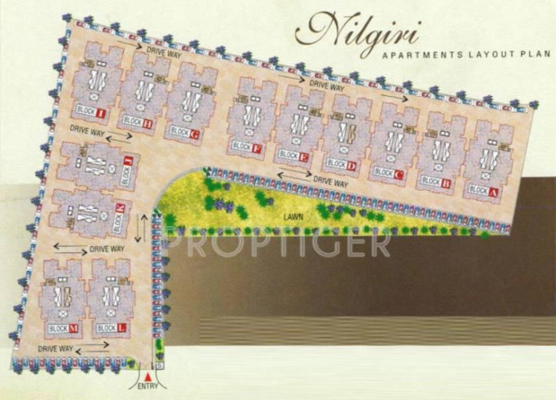 Images for Layout Plan of Sunil Nilgiri Apartment
