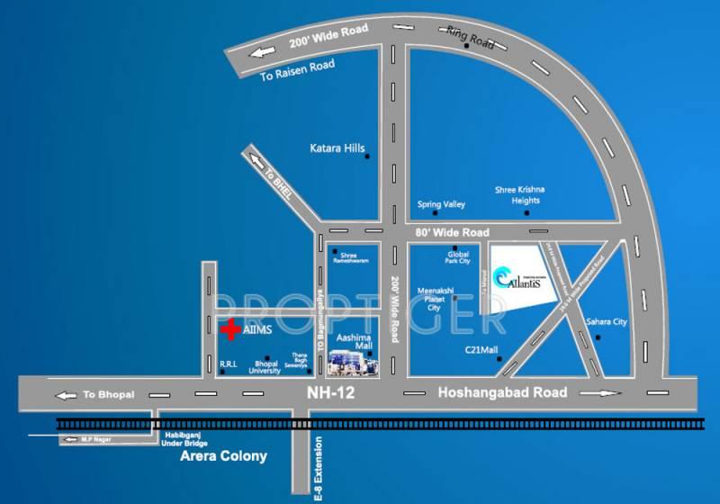 Images for Location Plan of Soumya Atlantis Apartment