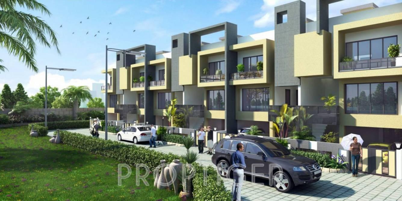 Mahendra greenwoods extension amaltas villas in for Extension villa