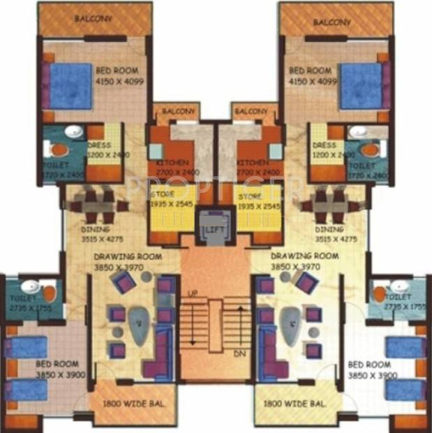 Images for Cluster Plan of Getmore Coconut Grove Residence