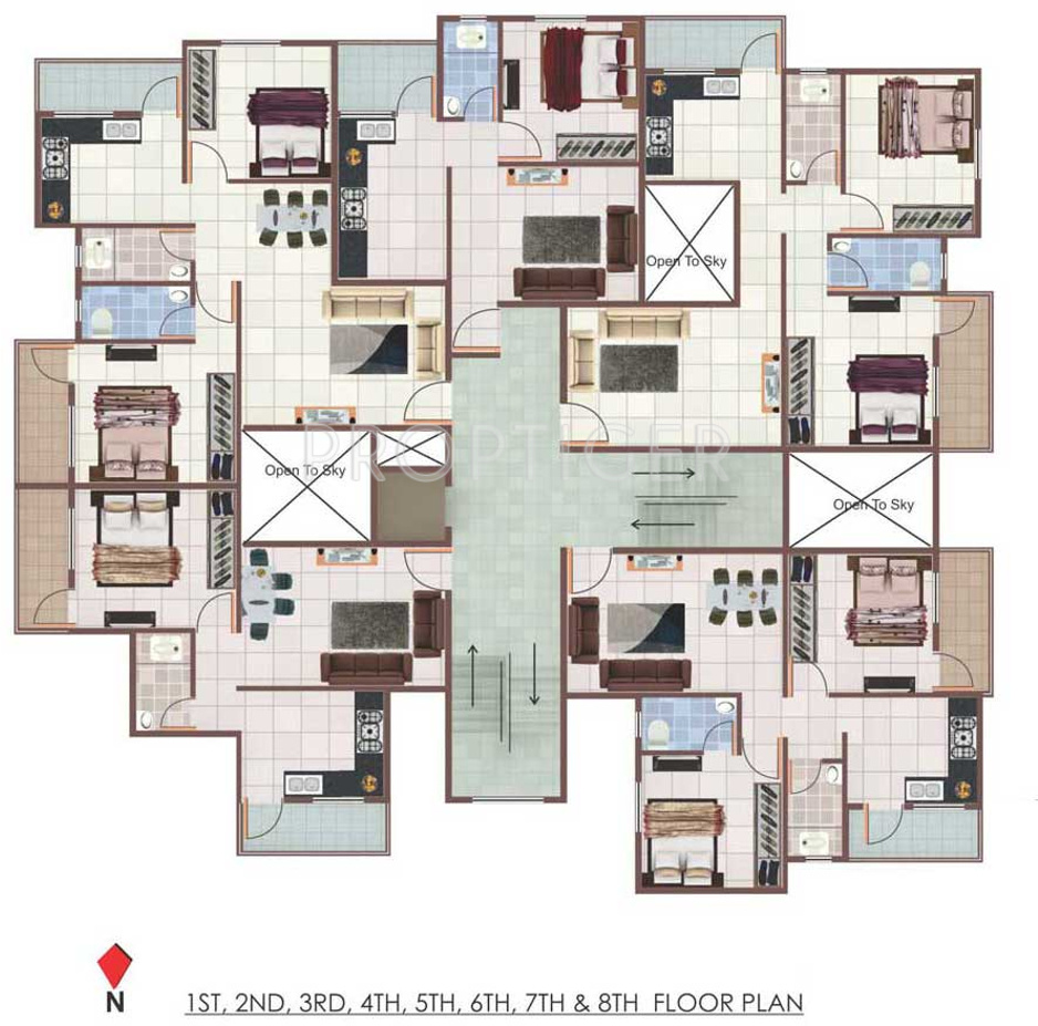 945 sq ft 2 bhk 2t apartment for sale in sanyog for 125 court street floor plans