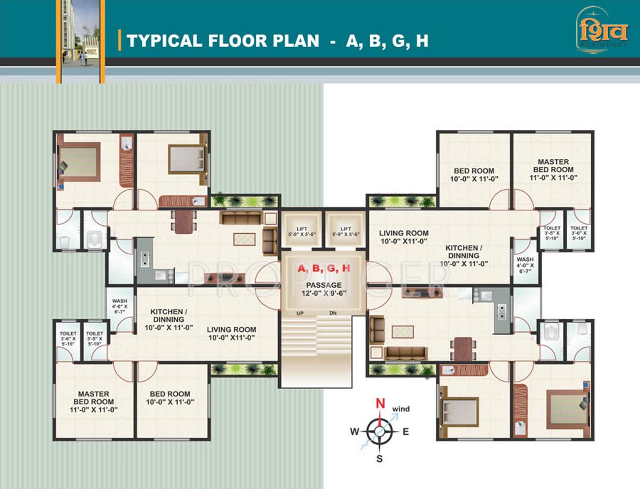 Raghuvir shiv residency in vesu surat price location for X2 residency floor plan