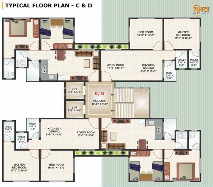 shiv-residency Images for Cluster Plan of Raghuvir Shiv Residency